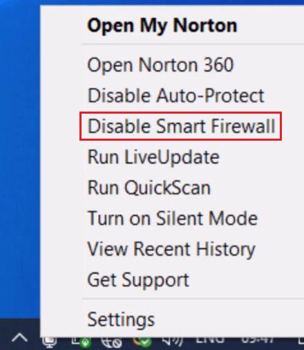 Disable Norton Security