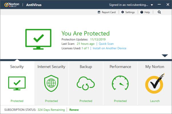 downloading Norton security