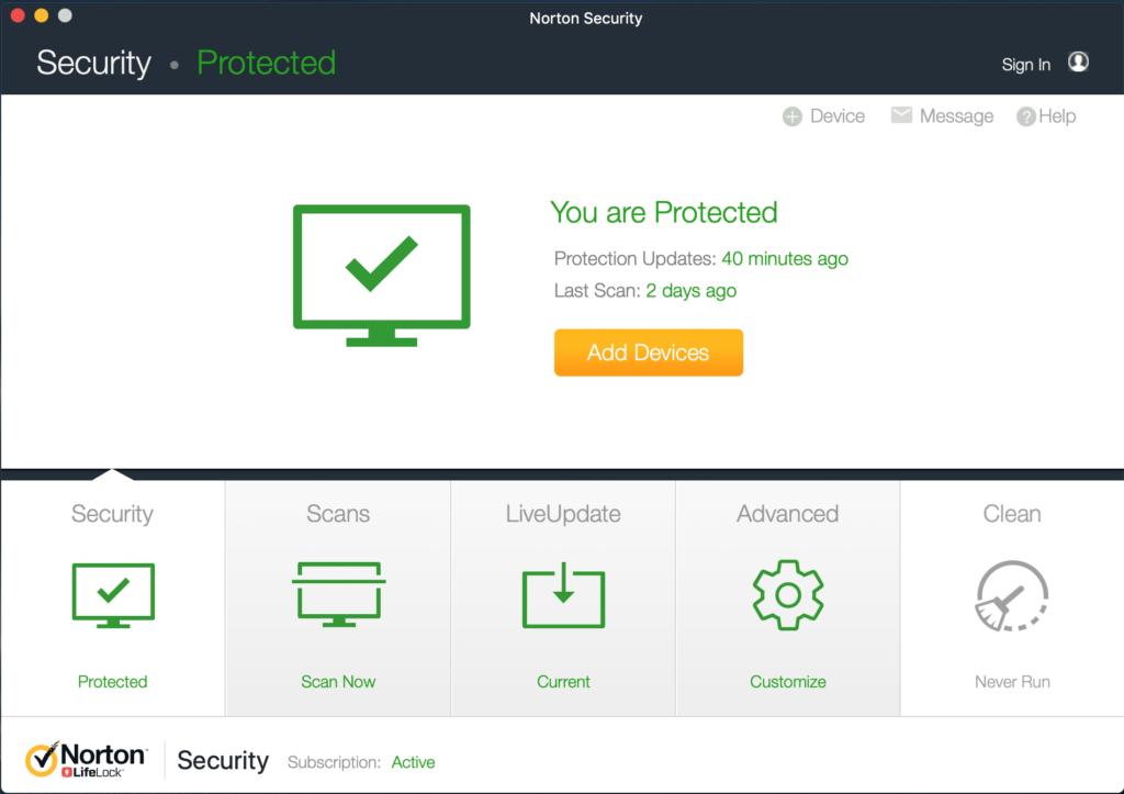 Norton Security Scan On Mac